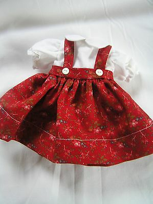 Red   Doll Dress for P-90 14 Inch  Toni Doll
