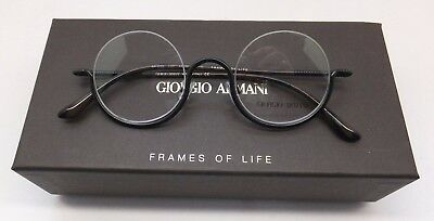 RETRO Giorgio Armani AR 5059 3001 Black Round Italy Man Woman Eyeglasses BE43/21