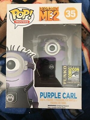 Funko Pop Purple Carl #35 2014 SDCC Comic Con Exclusive Minion Despicable Me 2
