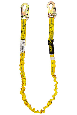 Guardian Fall Protection 11200 IS-72 6-Foot Internal Shock Lanyard with snap hoo