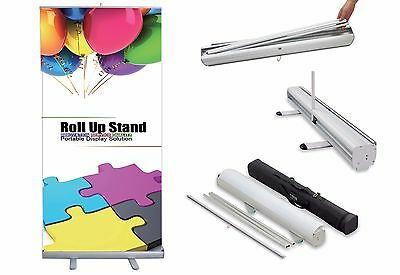 Retractable, Roll-Up Trade Show Banner Stand Display with Custom Printed Banner