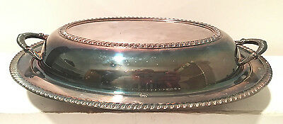 Sterling Silver Or Plated Covered Serving Dish