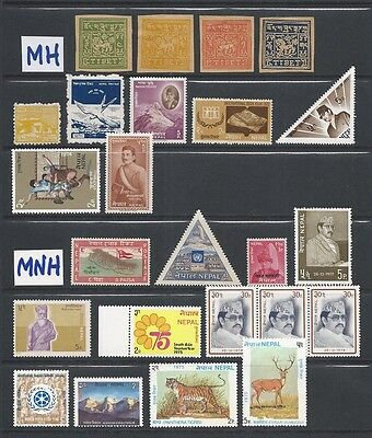 Lot of Assorted Mint Stamps from Nepal & Tibet