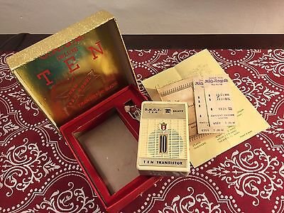 Omgs Boxed Japan Transistor Radio 1960's  Plays Cosmetically Superb!  Great Find