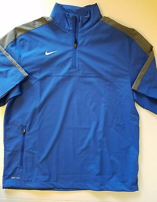 Men's Dri Fit Nike Short Sleeve 1/4 zip Jacket Sz Medium M EXCELLENT