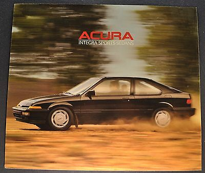 1988 Acura Integra Sport Sedan Sales Brochure Sheet Excellent Original 88