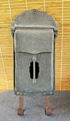 Antique Mailbox ART DECO Circa 1920 Salvaged From Historic Architectural Home