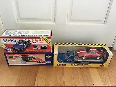 3 NEW Mobil 1995, 1996, & 1998 Limited Edition Toy Trucks