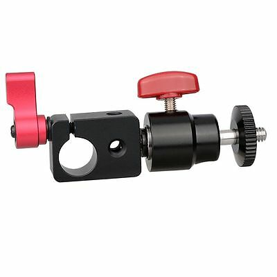 "US CAMVATE Tripod Mount 15mm Rod Clamp Ball Head 1/4"" Thread for camera monitor"