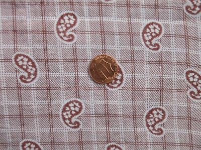 Back In Time Textiles~Primitive Antique 1870 paisley brown fabric~