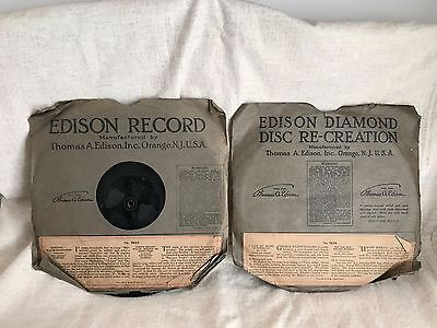 Thomas Edison Records!!  Awesome Collectible!!  Original Packages!!