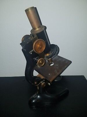 Antique 1915 Bausch And Lomb Microscope For Parts