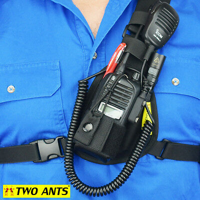 Radio Holster Chest Harness UHF - Left - Two Ants Worker CT000SLBK