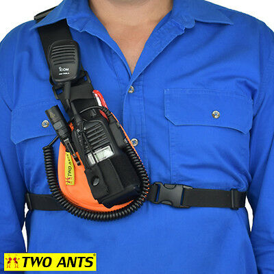 Radio Holster Chest Harness UHF - Right - Orange - Two Ants Worker CT000SROE