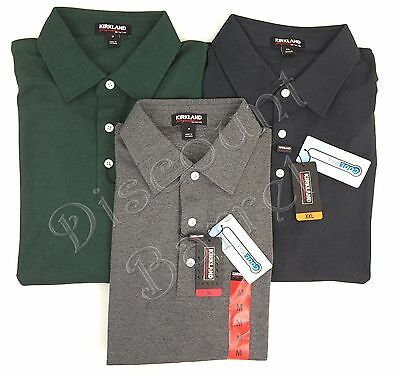 Kirkland Signature Men's Short Sleeve Cool Max Performance Polo Shirt Variety