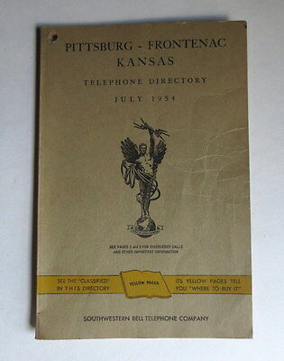 1954 Telephone Directory Pittsburg ~ Frontenac Kansas