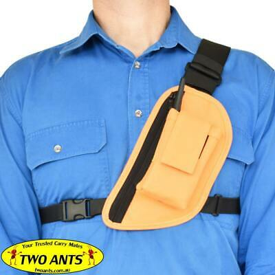 UHF Radio Holster Chest Harness, Left, Enclosed, Single - Two Ants Trap Jaw