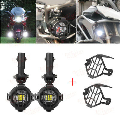 New Cree LED Motorcycle Auxiliary Lights & Protect Cover for BMW K1600 R1200GS
