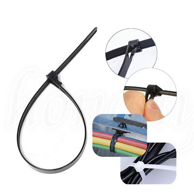 1~50x Reusable Self-Locking Network Nylon Plastic Cable Wire Zip Tie Cord Strap