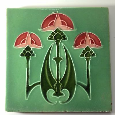 Fabulous Classic Antique Art Nouveau Tile