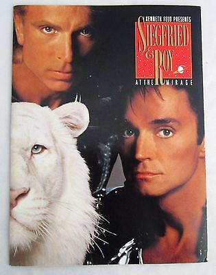 Vintage Siegfried & Roy Program MIRAGE HOTEL & CASINO Las Vegas 1990s Photos