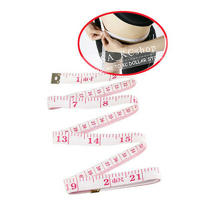 """New 2x 60"""" Body Measuring Tailor Sewing Cloth Measuring Tape Measure Soft Ruler"""