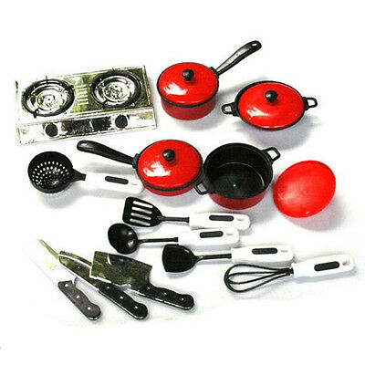 Kids Kitchen Utensil Accessories Cooking Play Toys Cookware Set Pretend Role Toy