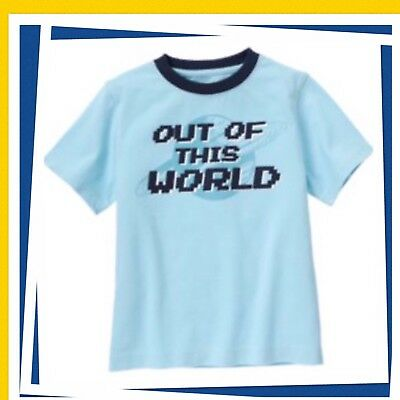 """NWT Boys 5 Gymboree SPACE VOYAGER Cotton SHIRT TOP """"OUT OF THIS WORLD"""" BLUE"""