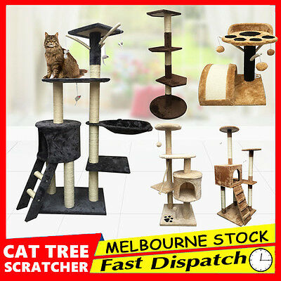 Cat Tree Scratching Post Scratcher Pole Gym Toy House Furniture Large Extra XL L