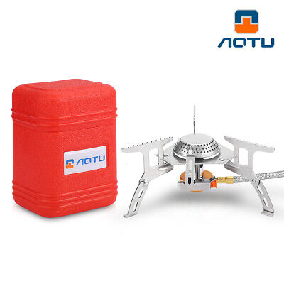 AOTU Portable Outdoor Folding Gas Stove Camping Hiking Cooking Burner Equipment