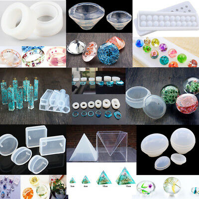 Assorted Jewelry Mold Pendant Mould Liquid Silicone Resin Crafts Halloween DIY