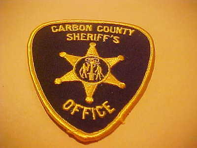 Carbon County Wyoming  Police Patch Shoulder Size New
