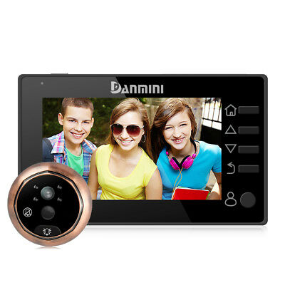 "DANMINI 4.3"" LCD HD Digital Viewer Peephole Doorbell Camera 160° PIR Door Eye"