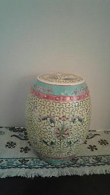Vintage YELLOW CHINESE GINGER JAR