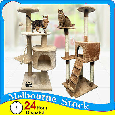 Cat Tree Scratcher Pole Gym Scratching Post Toy House Furniture Large XL Extra