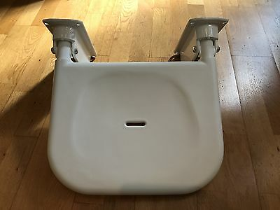 1 No. Wall Mounted Fold Up Shower Seat - Metal support bracket with Nylon seat -