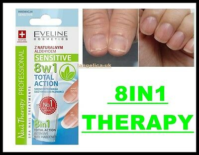 Eveline 8In1 Nail Therapy Sensitive Total Action Concentrated Nails Conditioner