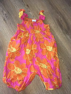 Next Girls Bright Floral Playsuit 4-5 Years Worn Twice