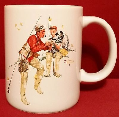Trout Dinner by Norman Rockwell Coffee Mug Museum Collection