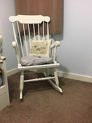 Wooden White Nursery Rocking Chair