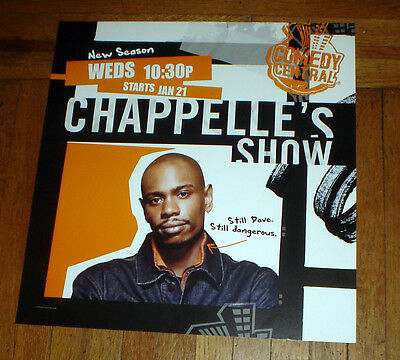 Dave Chappelle CHAPPELLE'S SHOW SEASON 2 NYC SUBWAY POSTER 2003