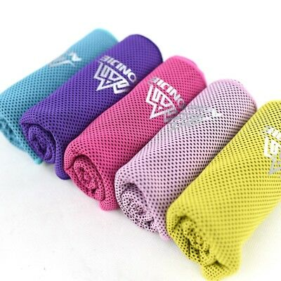 Instant Cooling Towel Ice Cold Golf Cycling Jogging Gym Sports Outdoor Towels AU
