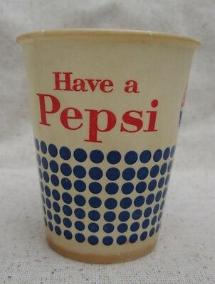 Vintage Pepsi Waxed Paper Sample Cup Have A Pepsi