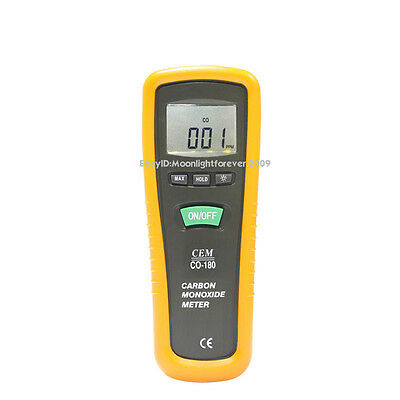 CEM CO-180 Carbon Monoxide Meter CO Monitor Gas Tester Detector EMH046