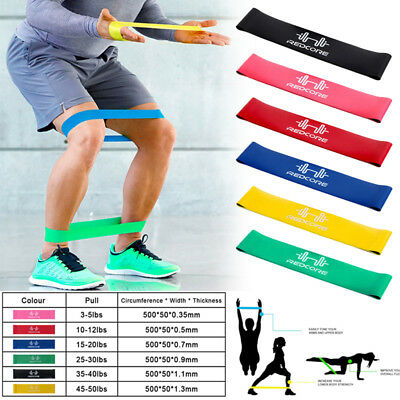 Strength Resistance Bands Loop Fitness Crossfit Power Lifting Pull Up Muscle Gym