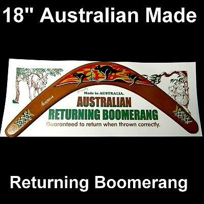 "18"" Australian Made Returning Boomerang 3 Flying Australia Kangaroo Sunset"