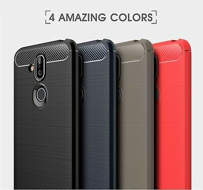 Heavy Duty Shockproof Carbon Fiber Case Cover For Nokia 1 3 5 6 6.1 7.1 8 8.1