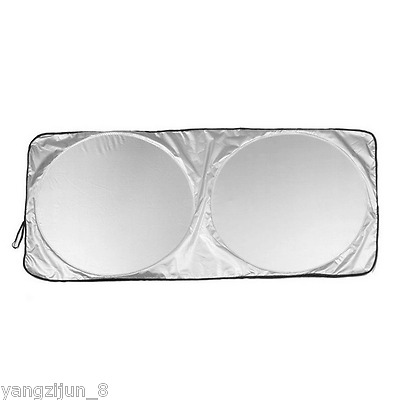 160×86cm Car Front Window Sun Shade Visor Folding Auto Block Protector Cover 1pc