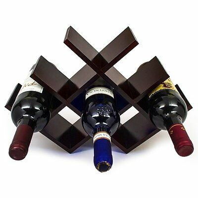 Butterfly Wine Rack, 8 Bottles, Bamboo, Wood, Mahogany by Legion Woodcraft