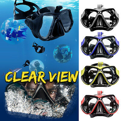 Diving Glasses Snorkel Goggles Scuba Mask For Gopro Hero 4 3+ 3 2 Camera Mount